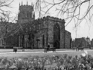 St Mary's Churchyard, Stafford, 1966.
