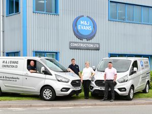 Mark Britton, Steve Grice, Alison Stubbs and Philip McEvilly from M&J Evans Plant