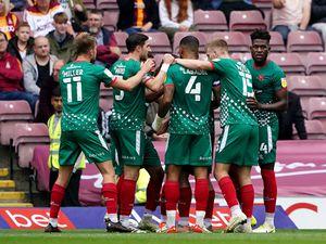 Walsall players celebrate at Bradford (PA)