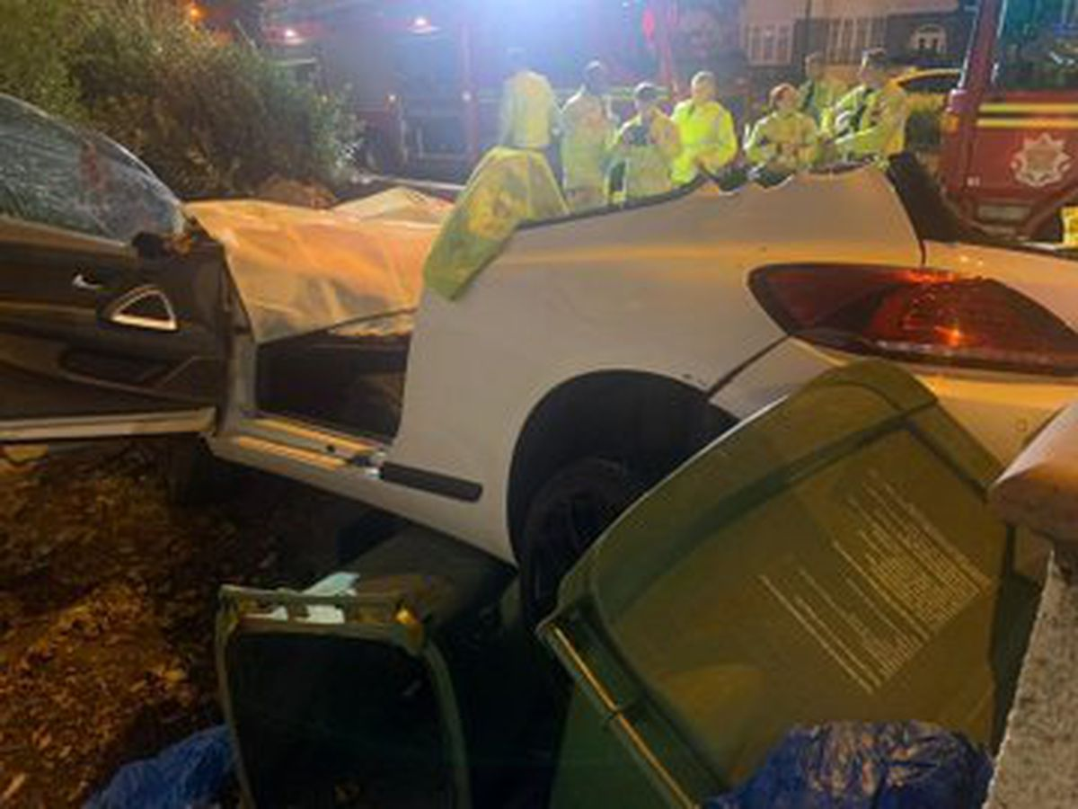 Firefighters removed the roof of the vehicle to rescue the male casualty. Photo: Bilston Fire