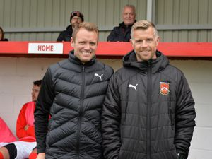 Back at the club as joint managers Stuart Pierpoint and Leon Broadhurst..
