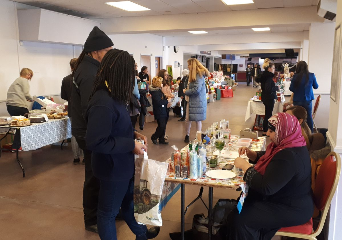 The St Peter's Ward Residents's Christmas fair at Wolverhampton Racecourse. Photo: Leigh Sanders