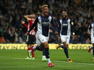 Callum Robinson of West Bromwich Albion celebrates after scoring a goal to make it 4-0. (AMA)
