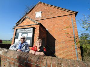 Alison Evans and Mary Evans outside Marsh Green Methodist Chapel which has closed
