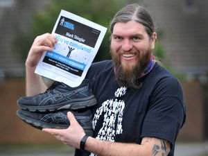 Mark Shingler from Walsall Wood took part in a virtualchallengesetto run 26.2 miles throughout January