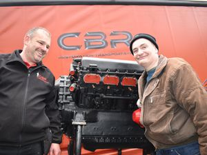 Andy Waters of CBR and  TTHC volunteer Dave Wood