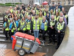 Birmingham workers turnout for city centre clean-up