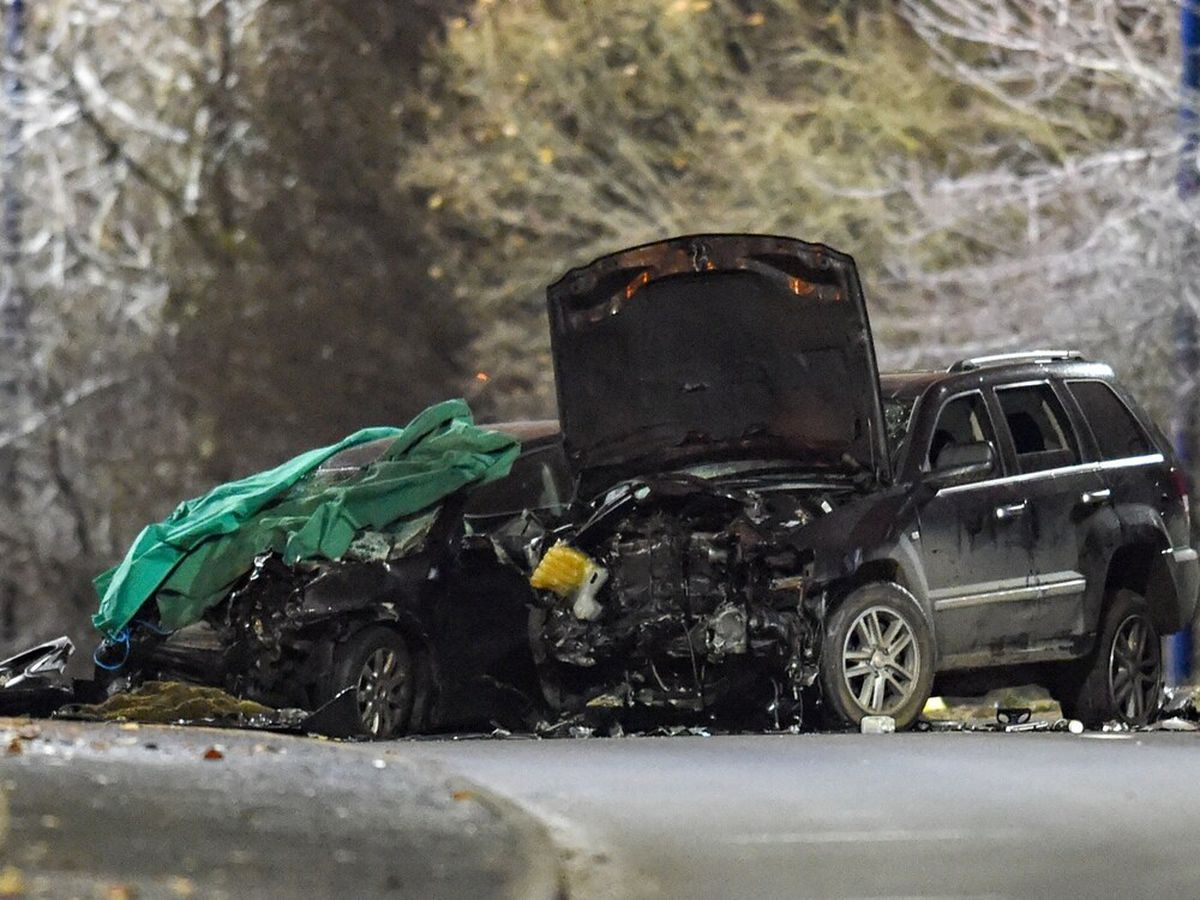 The scene following the crash. Pic: @SnapperSK