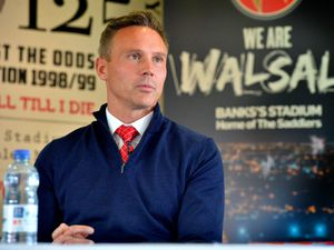 WALSALL COPYRIGHT EXPRESS AND STAR STEVE LEATH 01/06/2021..Pic at Walsall FC at New manager press conference with Head Coach/ manager: Matt Taylor (in the tie) here pictured with Asst Head Coach: Neil McDonald..