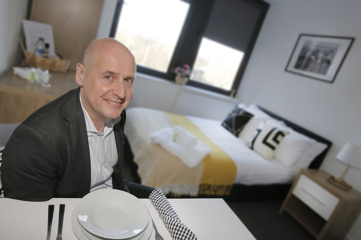 Barry Glantz, of The Studios24, at the co-living development in Wolverhampton
