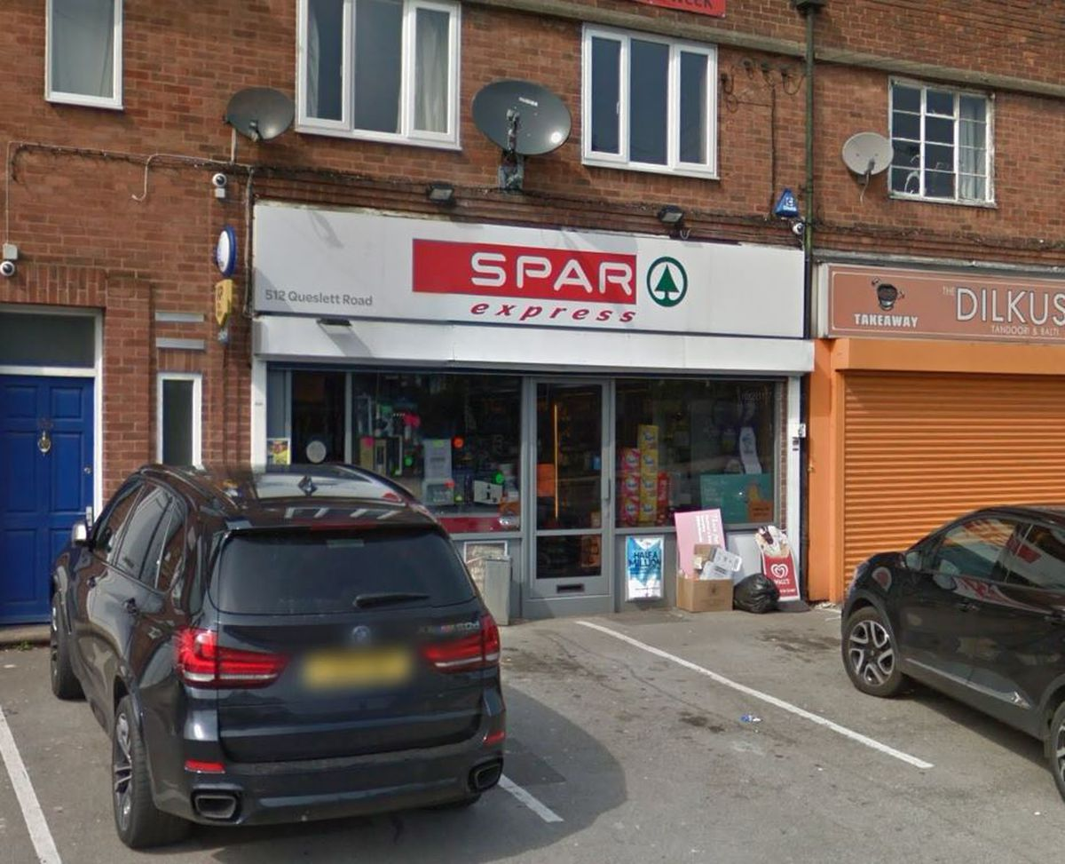 The Spar Express shop in Queslett Road, Great Barr. Picture: Google