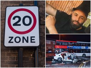 20 mph zones will be introduced across the Newton area of Great Barr, and right, Deepak Riat, who died after a crash between the BMW he was driving and a bus in Hamstead Road