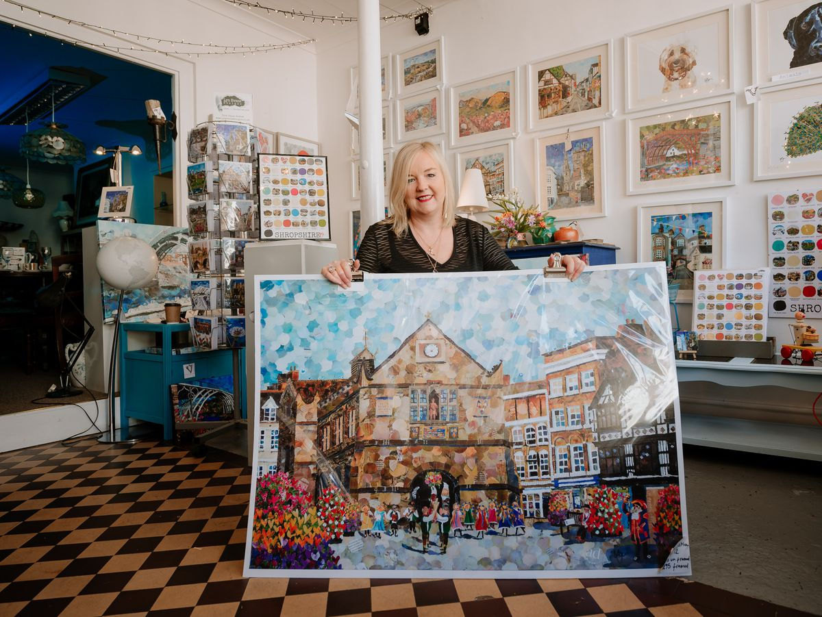 SHREWS COPYRIGHT SHROPSHIRE STAR JAMIE RICKETTS 30/07/2020 - Shropshire Magazine Feature - Lyn Evans of Vueporium in Shrewsbury. She will be sending in JPEGS of her work..