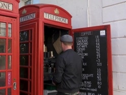 This telephone box is Brighton's smallest coffee shop