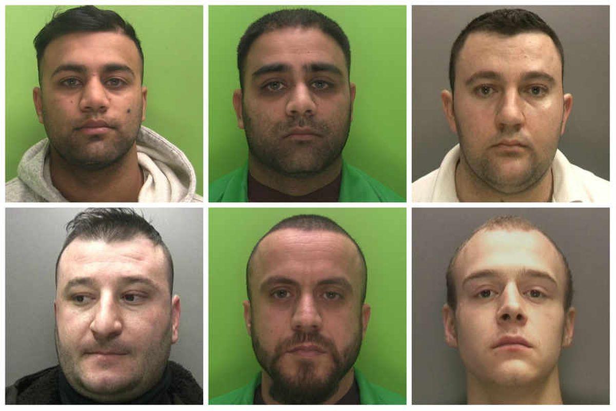 L-R and top to bottom: Shabaz Ali, Shazad Ali, Aleks Asllani, Desar Asllani, Arjol Cerriku, Richard Chapman