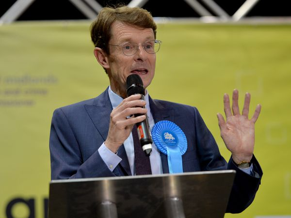 Andy Street speaks in Birmingham after the result was announced