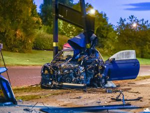 The scene following the crash on Bordesley Middleway, Birmingham. Pic: SnapperSK