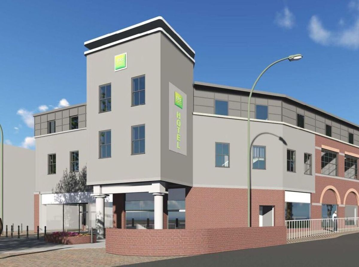 An artist's impression showing how the hotel will look