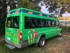 Anger after vandals smash up school's five minibuses
