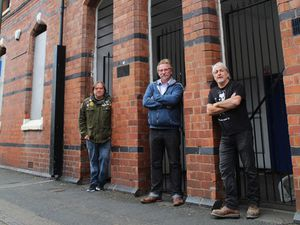 Lume Cinema directors, outside the former Real Cinema, James Anderson Brown, Anthony Hughes and Eddy Morton