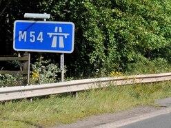 Broken down car closes lane of M54 slip road
