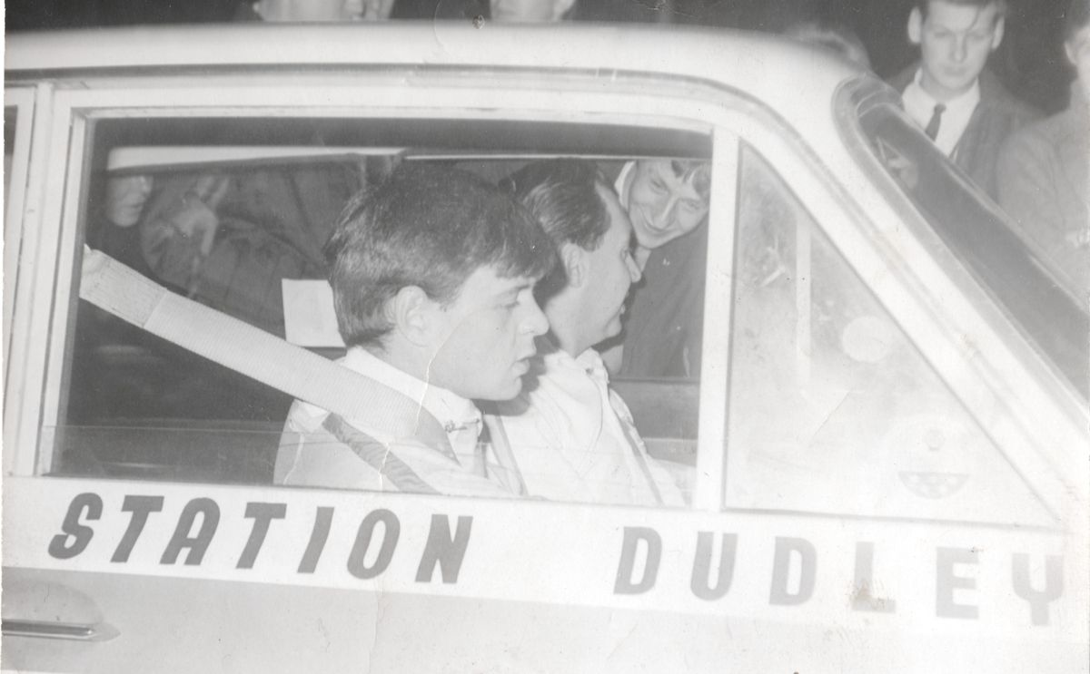 Richard Hill in his rally-driving days