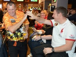 It's 'Strictly Come Darting' at a city pub