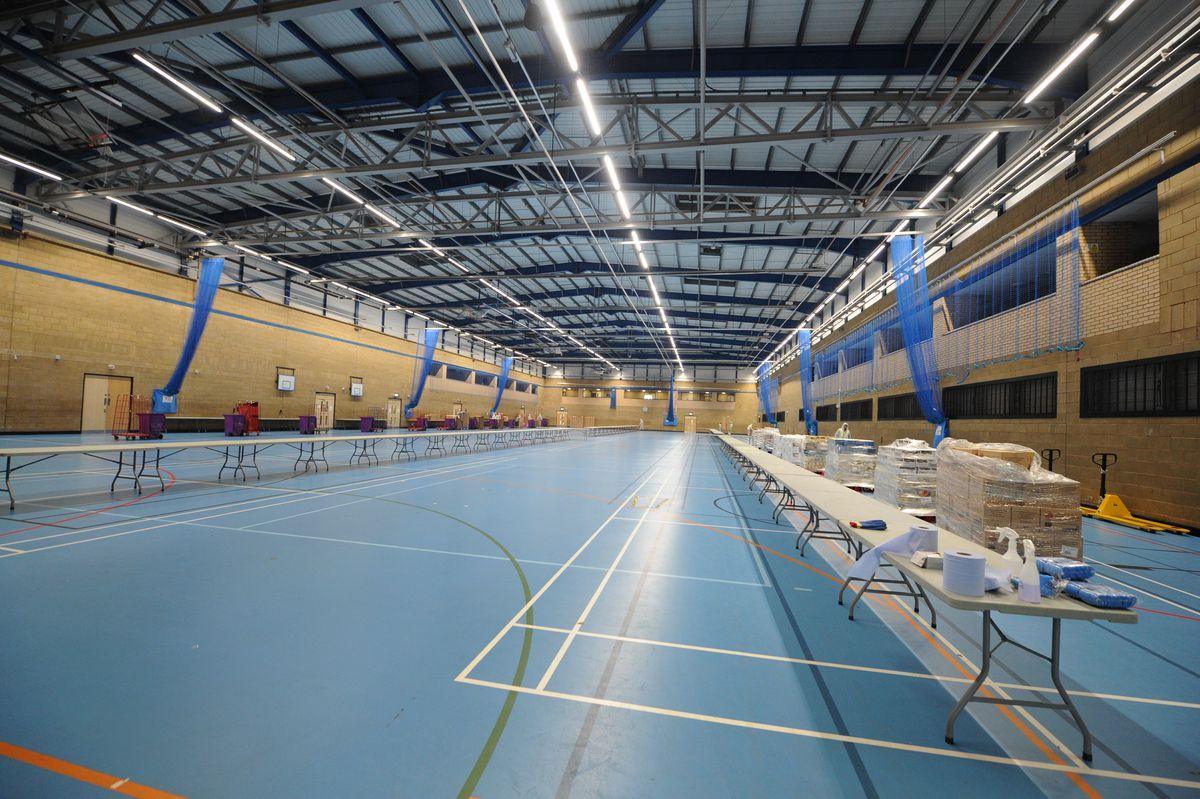 The huge sports hall