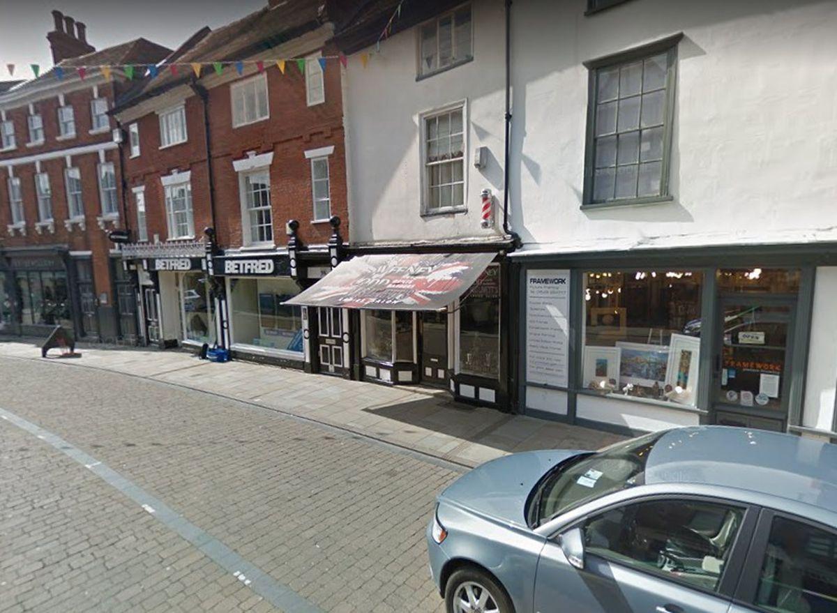 Sweeney Todds Gents Barbers, in Tamworth Street, Lichfield. Photo: Google Street View