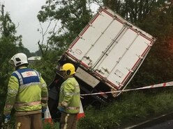 Long delays as M6 lorry crash leaves driver trapped for nearly two hours