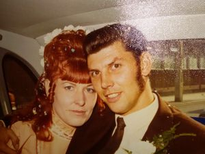 David and Norma on their wedding day