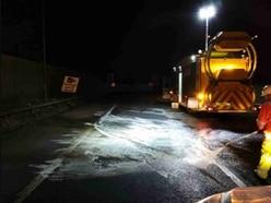 M6 link road shut for six hours after crash