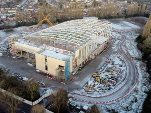 The new Sandwell Aquatics Centre is taking shape in Smethwick.