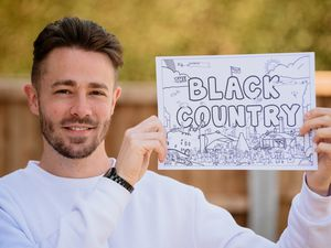 Ben Poultney has made colour-in Black Country piece of artwork.