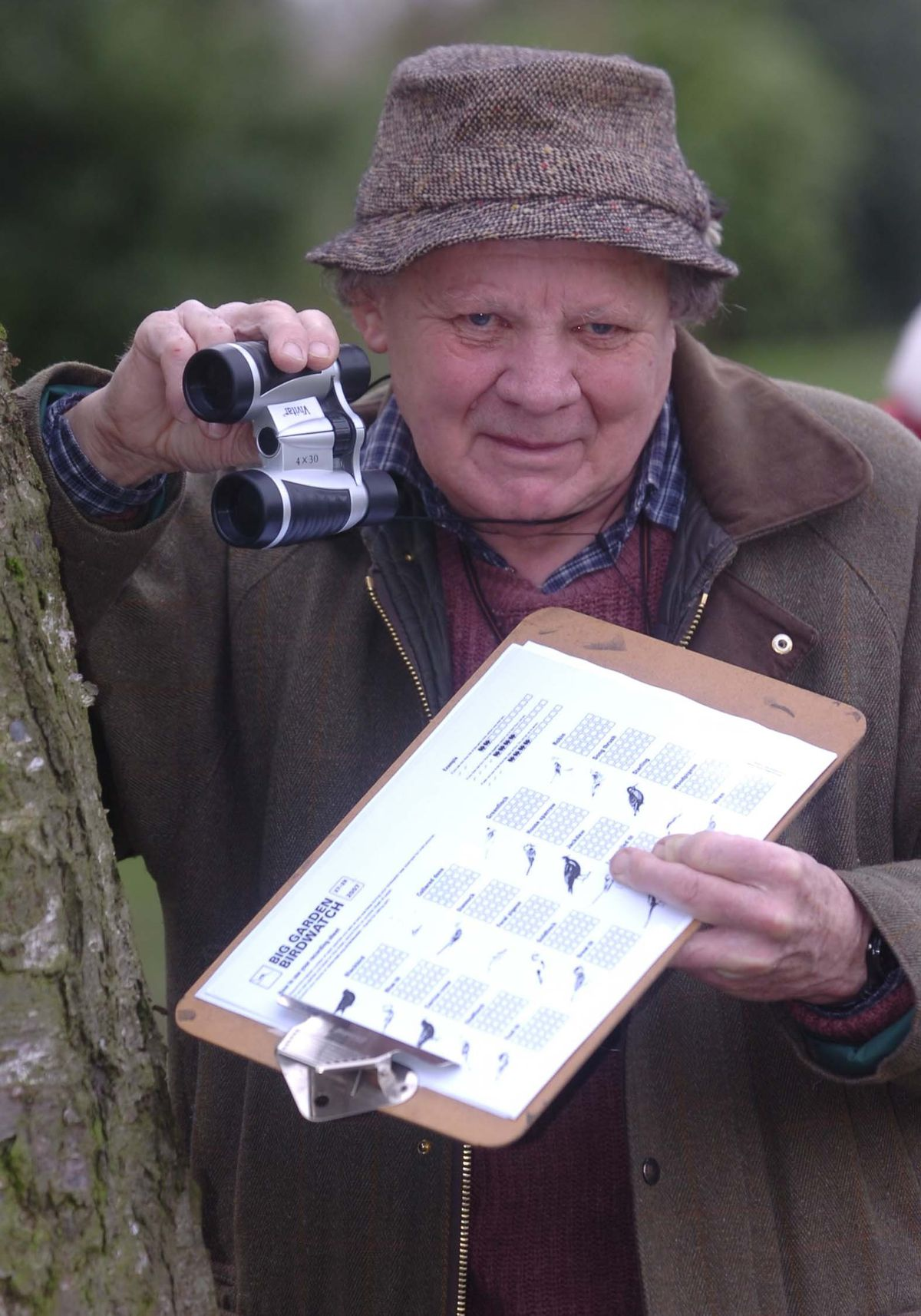 A keen ornithologist, Mr Lloyd was pictured here during birdwatching week at Barnford Park in Oldbury