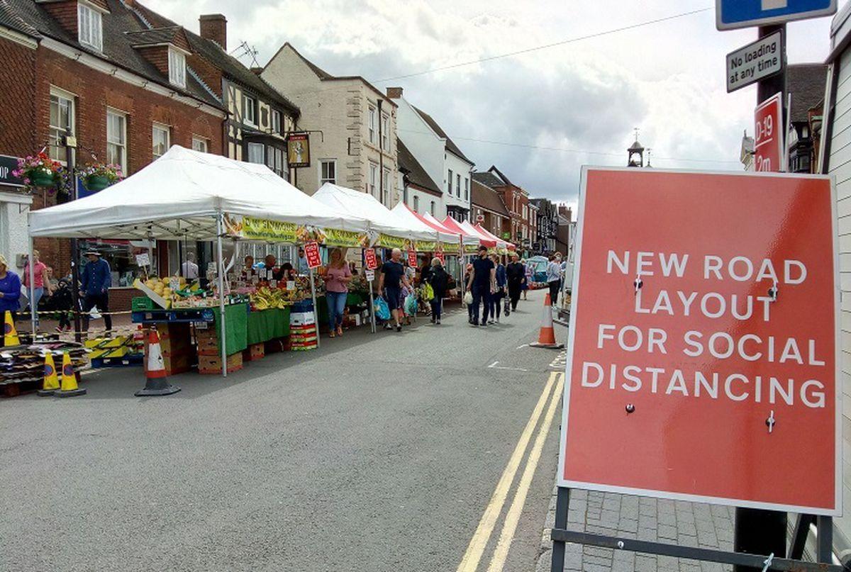 New arrangements on Saturdays in Bridgnorth High Street
