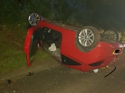 Appeal to trace driver as car flips onto roof in Gospel End crash
