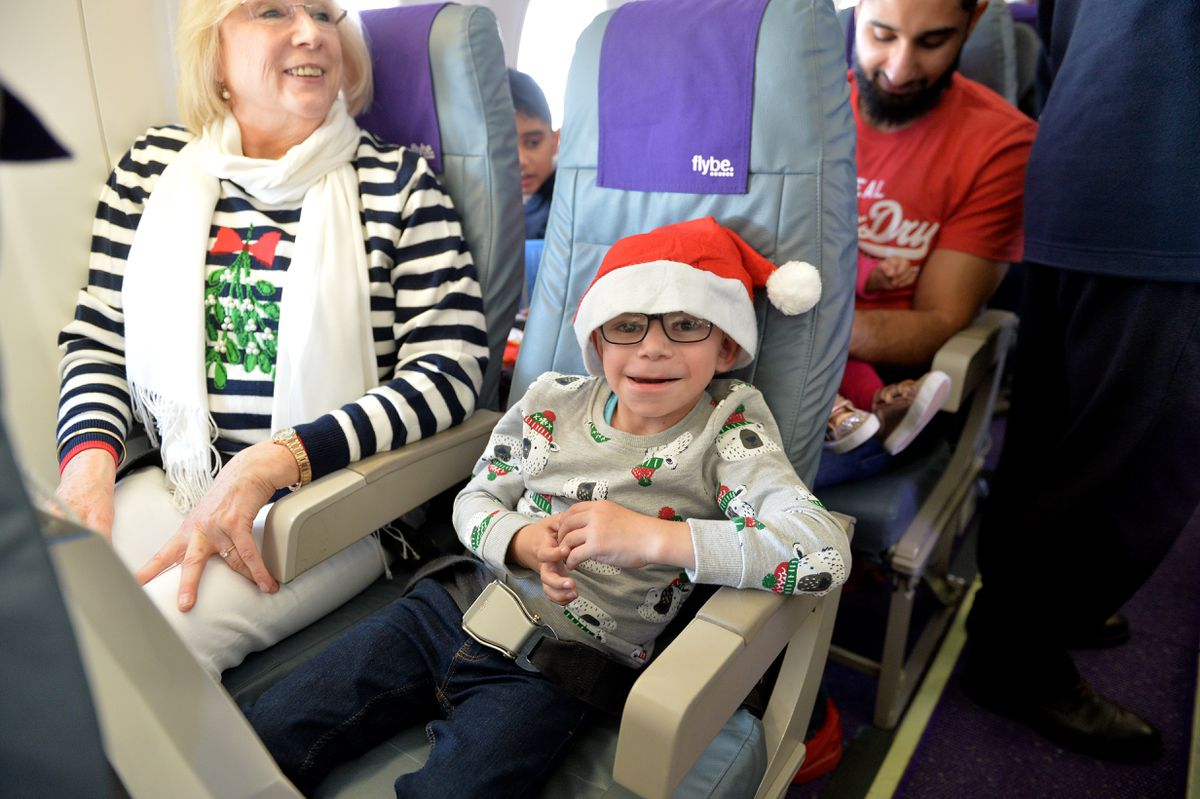 All smiles on the Flybe flight