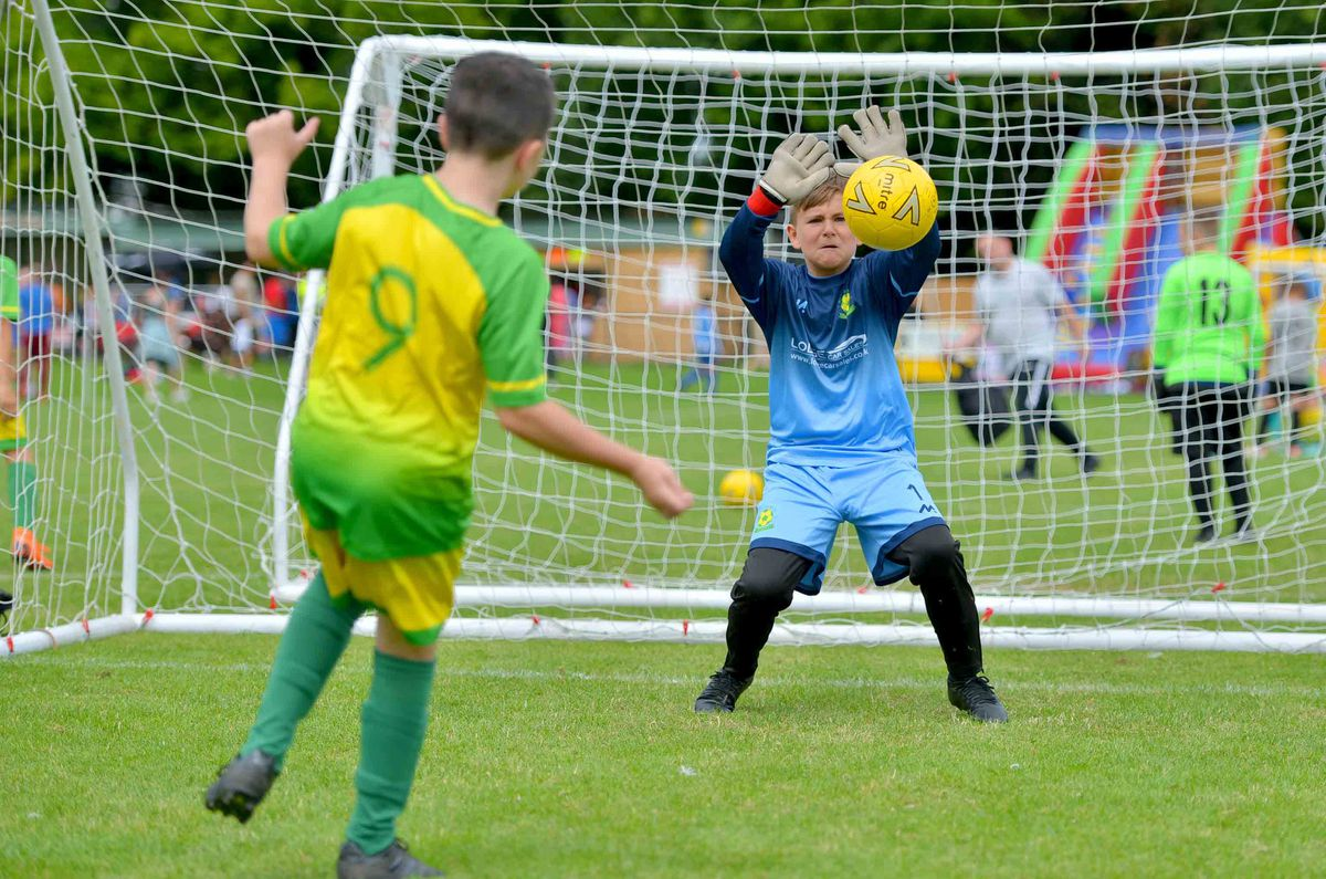 Action from the Silverdale FC tournament