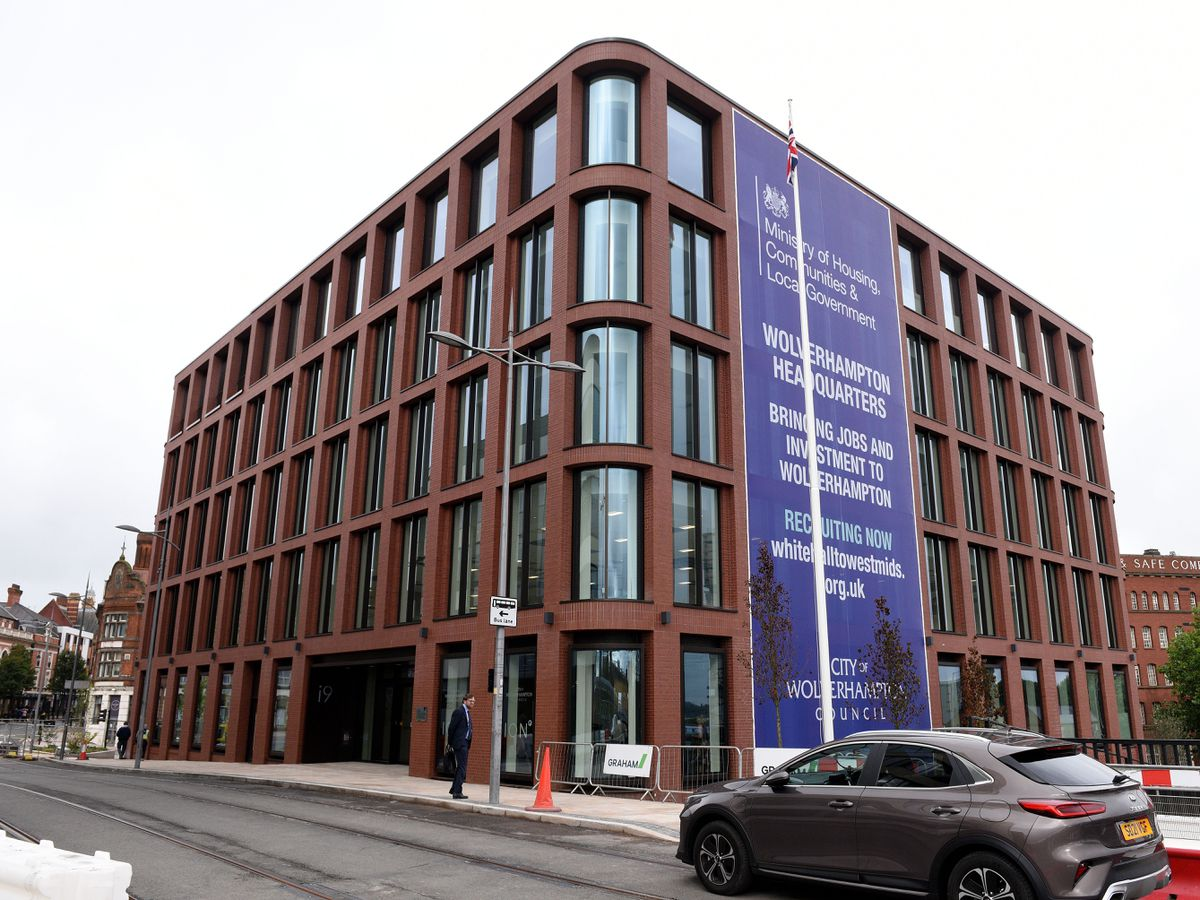 The new Housing Ministry office at the i9 building in Wolverhampton