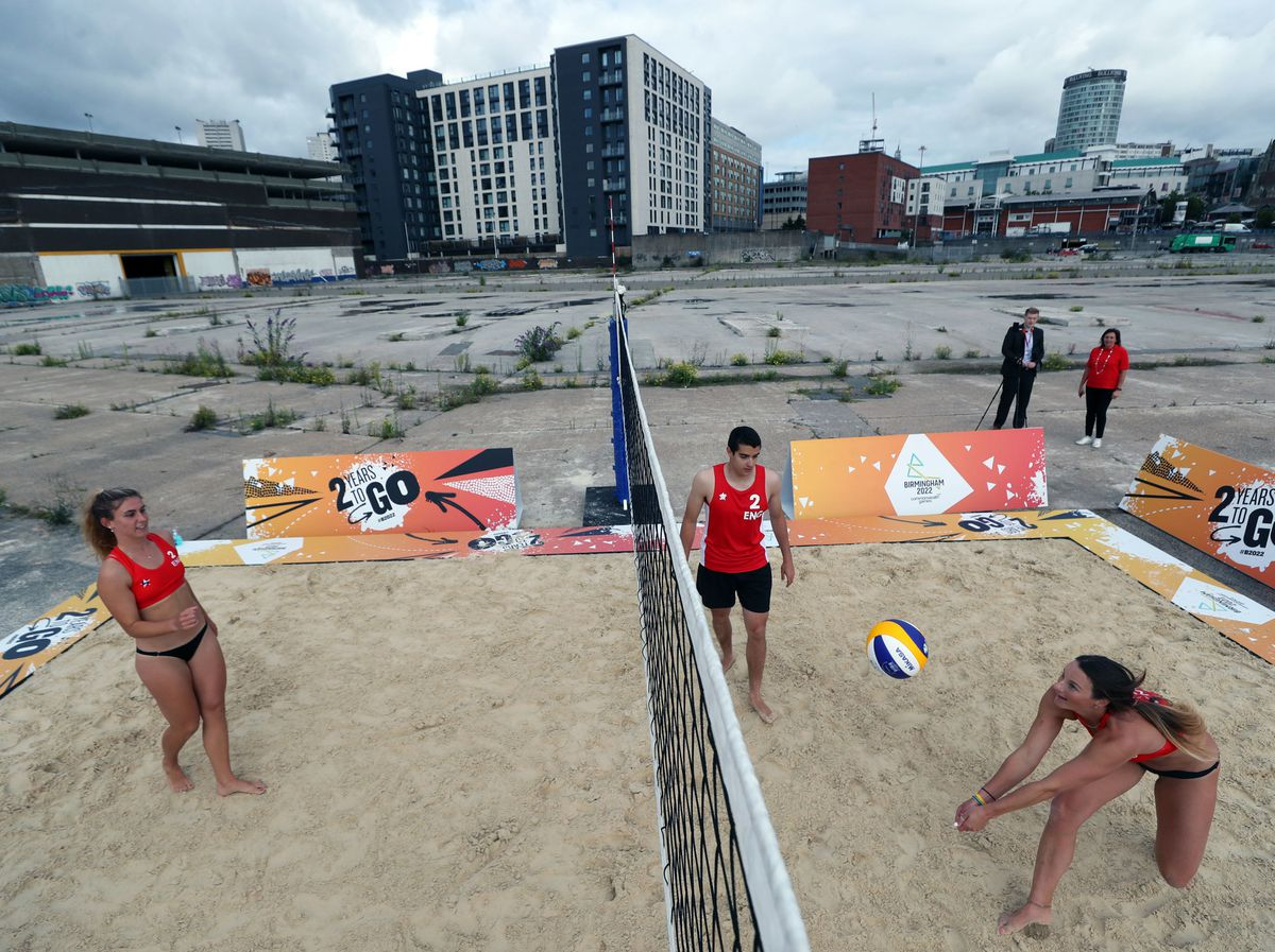 Beach volleyball will be one of the sports to feature in the city centre former market site in Birmingham, which currently lies derelict