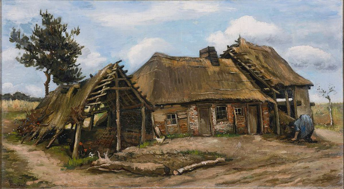 Vincent van Gogh's Peasant Woman in front of a Farmhouse