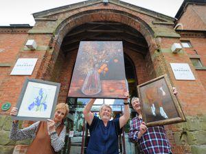 Ann Hackett, Pam Renhard, and Simon Tew at The Granary Art Gallery, Weston Park