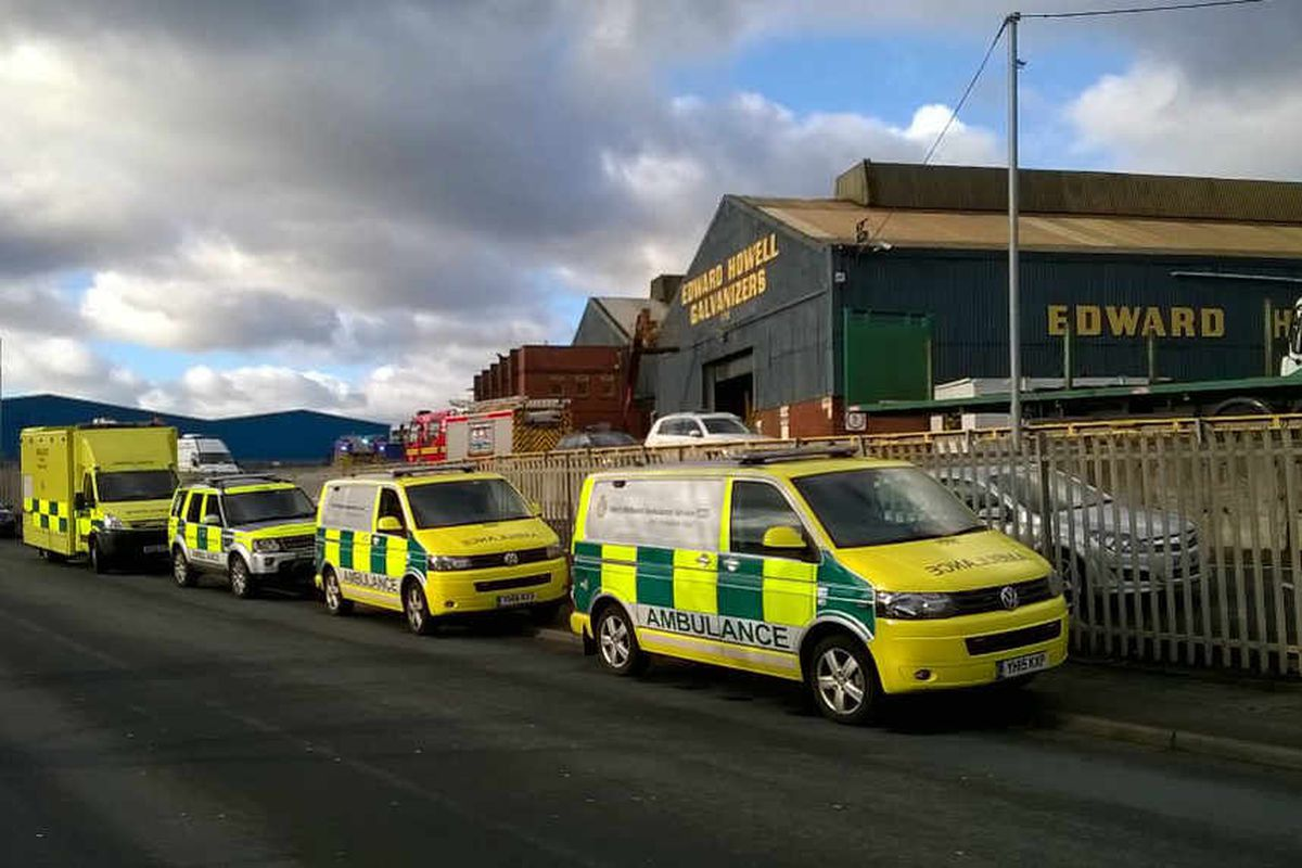 Wednesfield factory evacuated after major acid spill