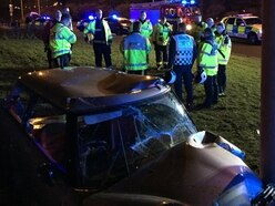 Woman seriously injured after crashing into roundabout sculpture