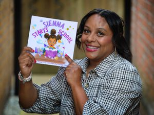 Author Danielle Harvey, of Rowley Regis, with her first book 'Sienna Starts School'