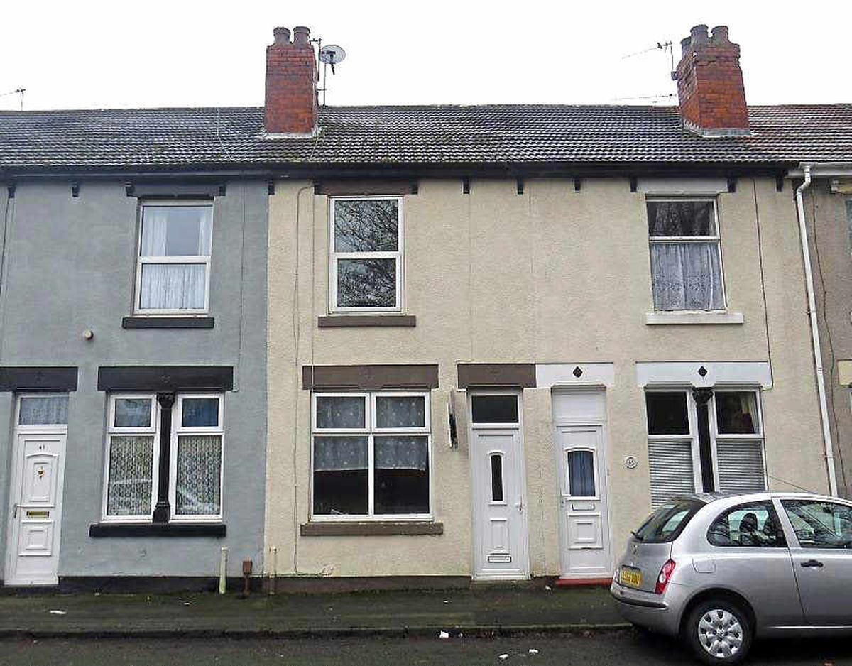47 Lewis Street in Bilston is a snip at just £19,000 with two bedrooms, two reception rooms, kitchen, bathroom and garden
