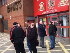 'We want our Walsall back': 100 Saddlers fans protest at way club is run - with VIDEO
