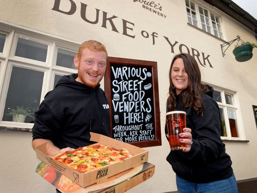 Craig Giblin, pub manager, and Becca Fulleylove, operations manager