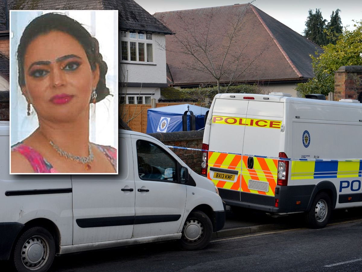 The scene at the family home in Rookery Lane, Penn. Inset: Sarbjit Kaur